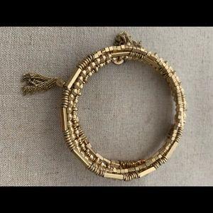 Celine Wrap Bracelet in Gold